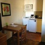 Tiny room with tiny kitchen appliances