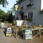 Floral Display outside the Ringlestone Inn