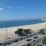 Vista lateral do mar