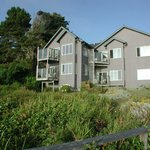 Oceanside view of inn from edge of property