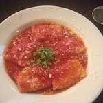 Homemade ravioli special with marinara sauce