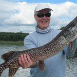 My biggest pike from our trip to Maynard Lake Lodge