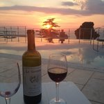 Watching the sunset with a bottle of house red