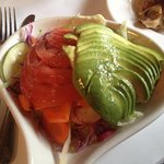 Side avocado & tomato salad