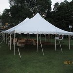 Tent from wedding the day before