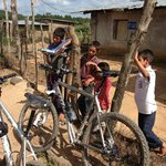Local kids awestruck by our bikes