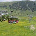 Panorama chairlift and surrounding view