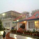 Resort in the evening mist..