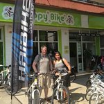 Electric Mountain Bikes - just perfect for getting up the hills!