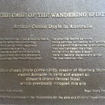 Awesome Adelaide. Plaque commemorat Sir Arthur Conan Doyle's visit to Adelaide in 1920. You will