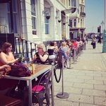 Outside Seafront Seating