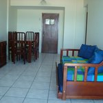 Sala e estar/jantar/porta de entrada