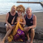 Our grand daughter in the Balinese traditional dress