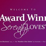 Our website banner shouting about the awards we have won.