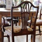 Comfy mix and match mahogany and oak antique furniture