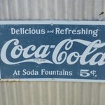 Sign on side of building