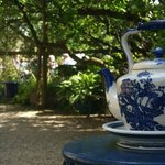 Our Large tea pot, situated at the gate leading you into our garden