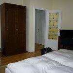 bedroom with glass door