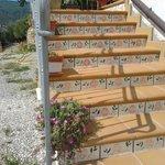 scalinata verso le stanze