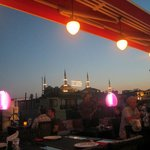 Rooftop Restaurant View of Blue Mosque - 4th Day of Ramadan