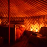 Yurt by candlelight