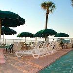 Ocean front sun deck