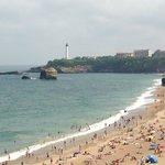 Beach in Biarritz near the Hotel