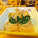 OHITASHI- COLD BOILED SPINACH WITH BONITO FLAKES IN DASHI