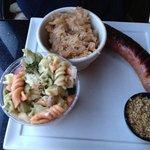Polish Sausage Plate- good sauerkraut!