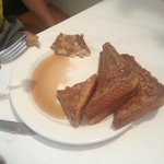 this is what $8.50 worth of french toast looks like-TWO SLICES, not even a garnish