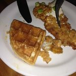 Chicken and waffles- yummy!
