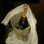 More champagne purchased from the Cranleigh and bought to my suite at the requested time I speci