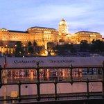 Blick vom Donaucorso zur Burg