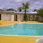 rooms surround a nice deep pool