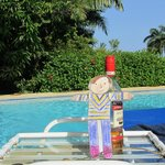 Flat Stanley enjoyed the complimentary bottle of rum