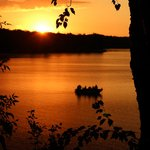 Sunset looking over Island Lake.