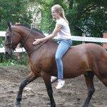 Riding Gladiator bareback