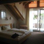 unser Zimmer im 2. OG mit Balkon und Seesicht