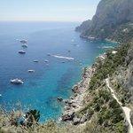 VIsta panoramica dall'isola di Capri