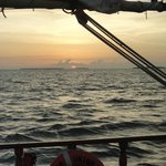 Sailing with the crew of the Western Union Schooner at sunset