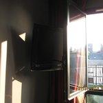 Genius combination of window and TV