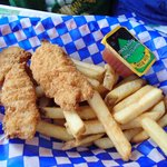 kids chicken finger meal
