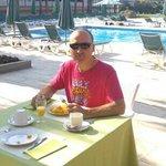 Breakfast at Clipper Hotel and Villas. lovely...