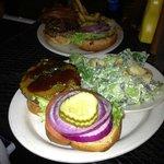 """""""Jerk Burger""""  jerk seasoning ,jalapenos and BBQ Sauce Burger"""