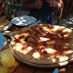Normal pizza versus the Jumbo!