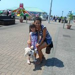 Me and my daughter at Harbour Park