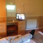 upstair bed. good to have a separate tv