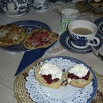 Tea cake and scone