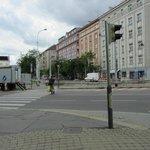 Kreuzung vorm Hotel