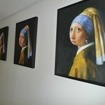 Humorous art of Vermeers' girl with the pearl earring